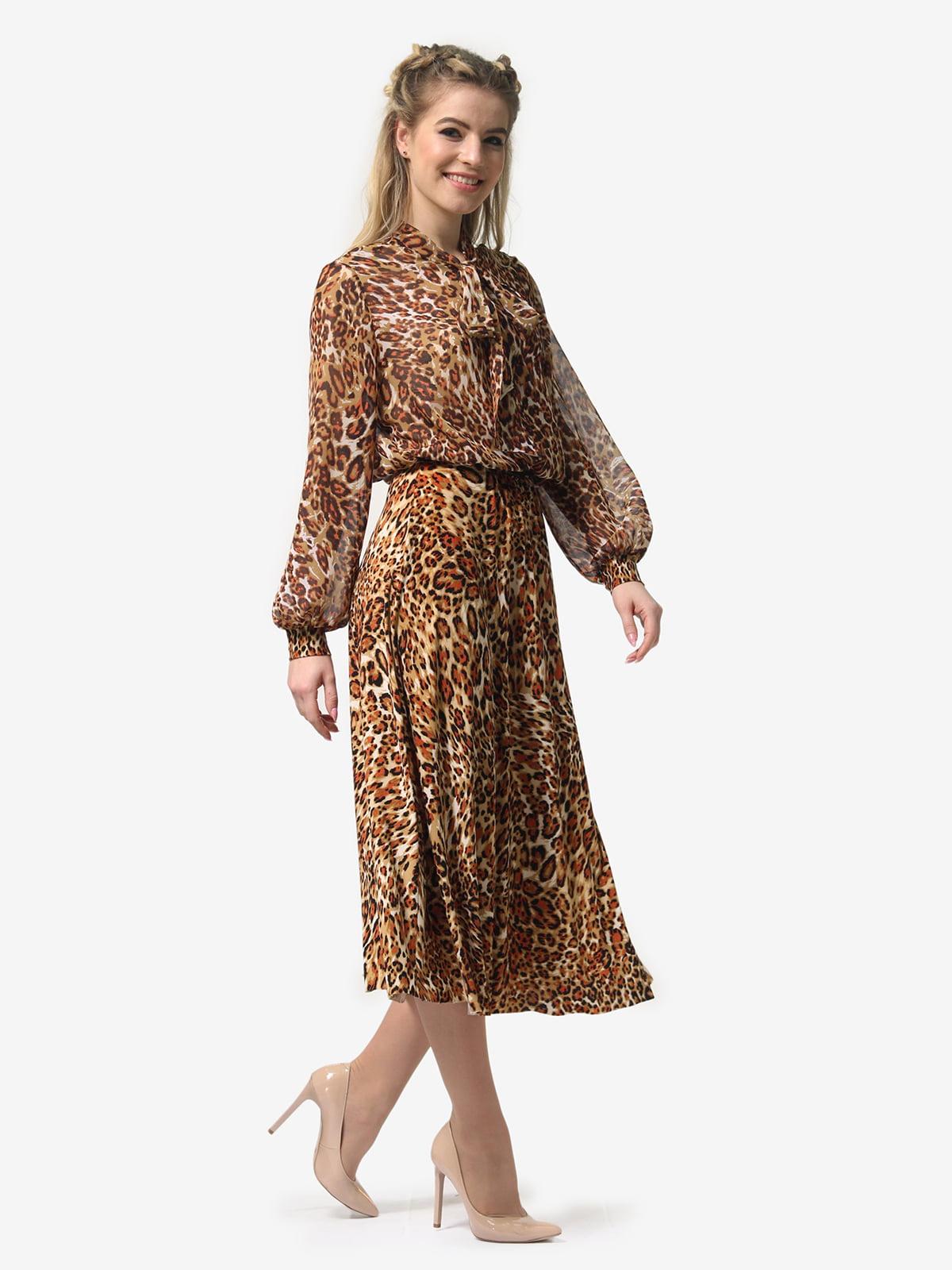 Платье в леопардовый принт | 4913326 | фото 3
