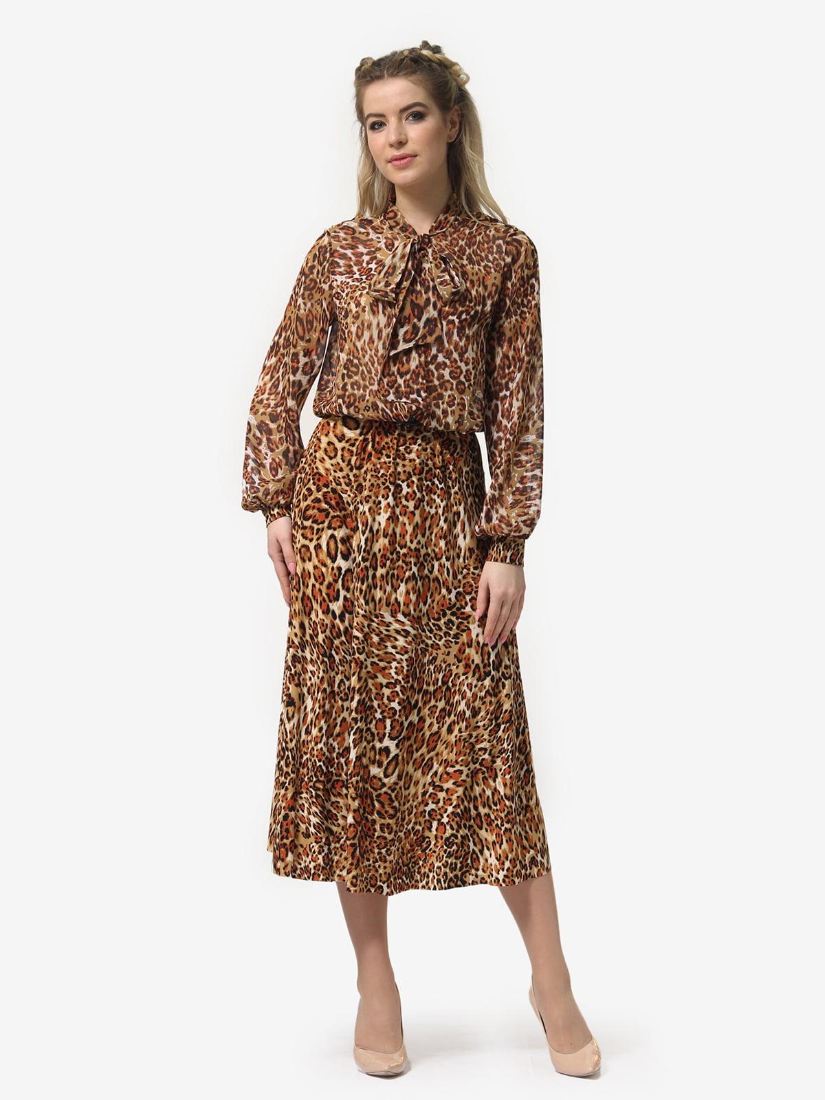 Платье в леопардовый принт | 4913326 | фото 4