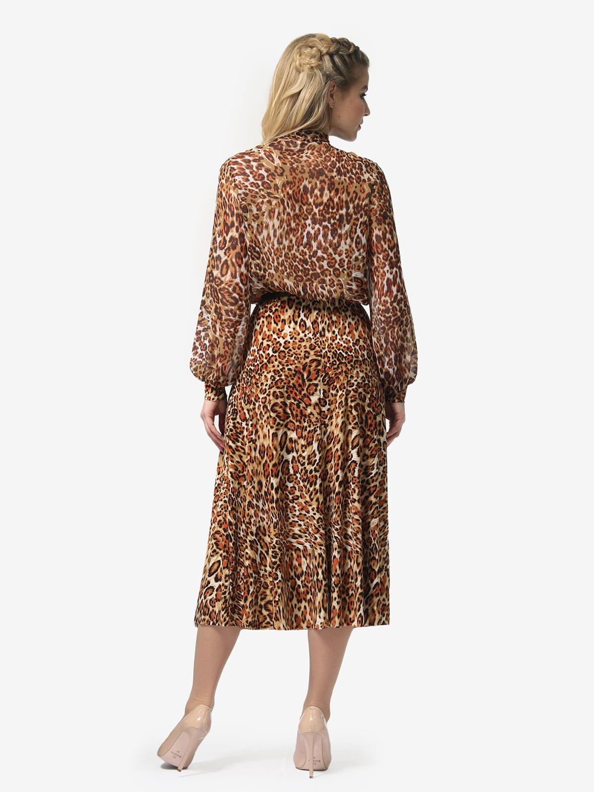 Платье в леопардовый принт | 4913326 | фото 5