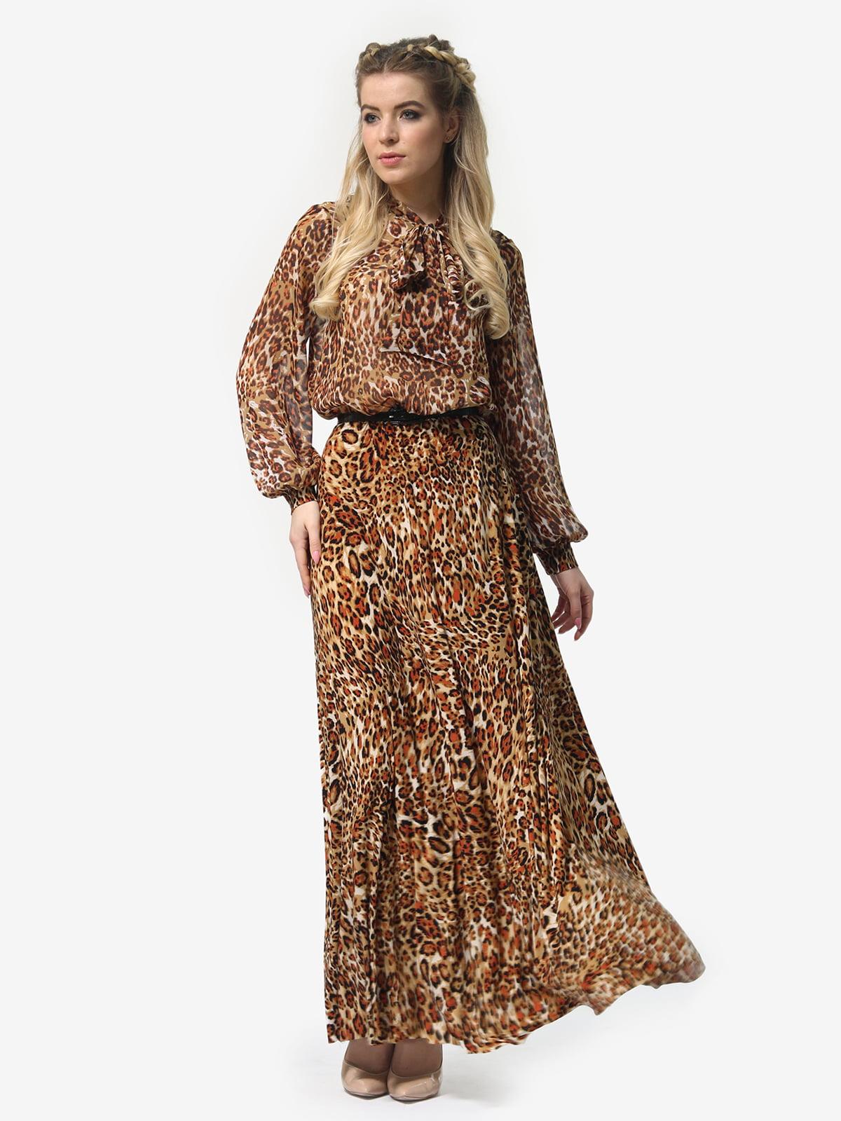 Платье в леопардовый принт | 4913327