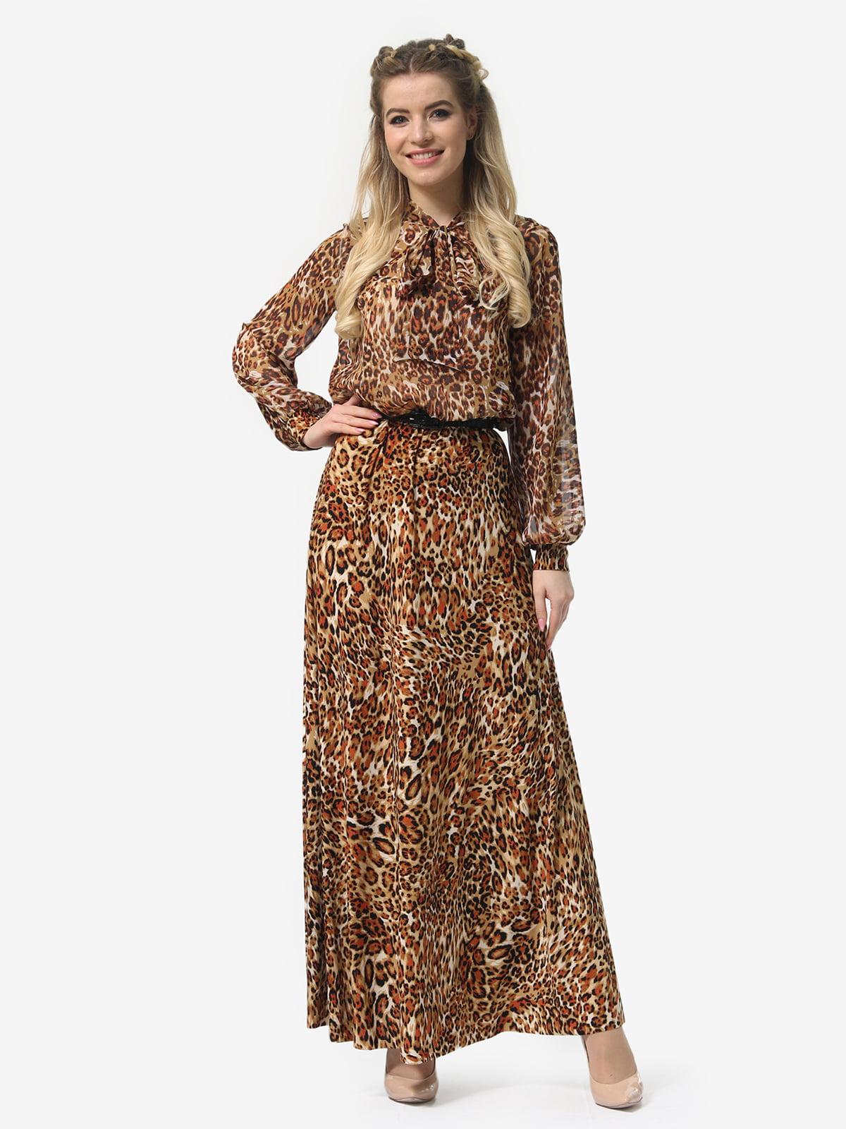 Платье в леопардовый принт | 4913327 | фото 2