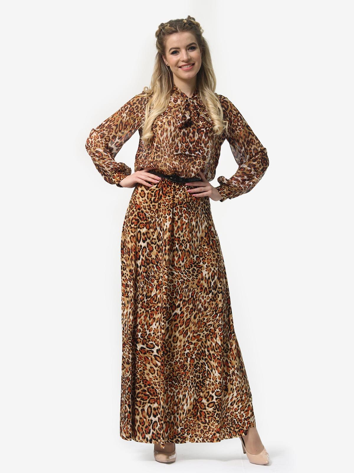 Платье в леопардовый принт | 4913327 | фото 3