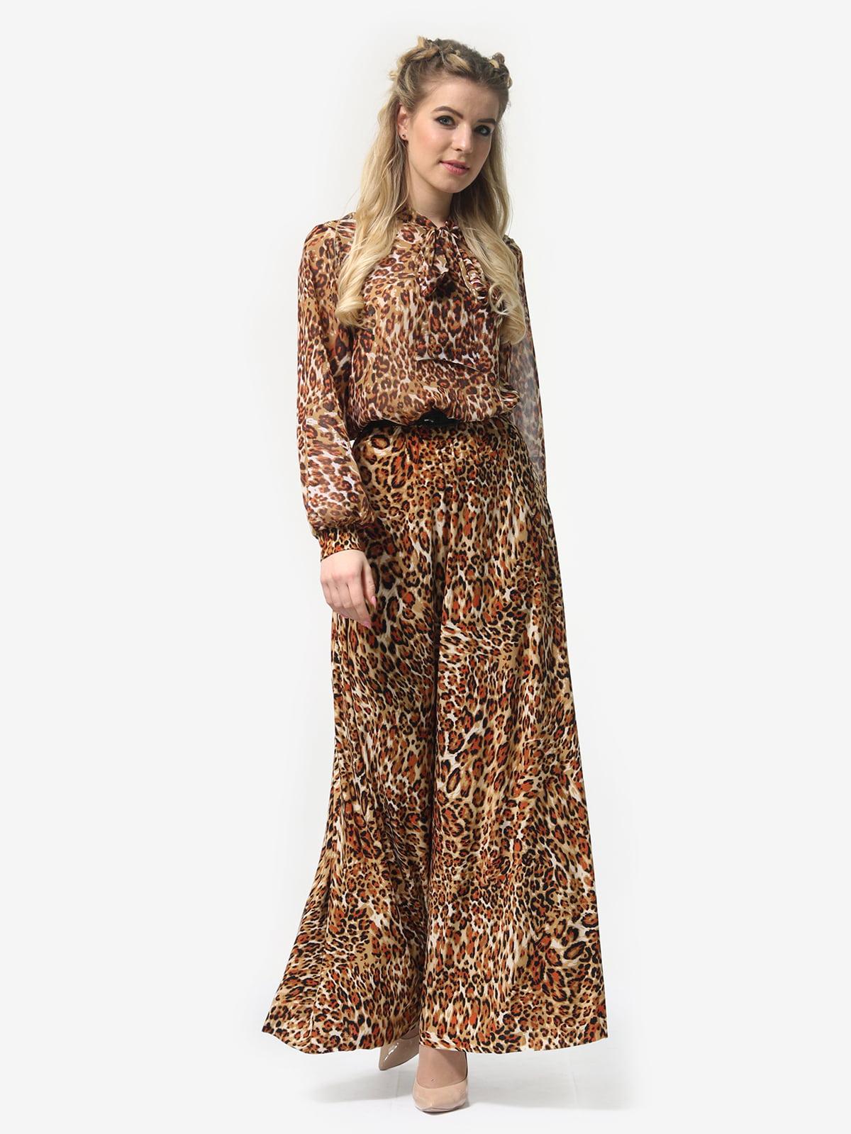 Платье в леопардовый принт | 4913327 | фото 4