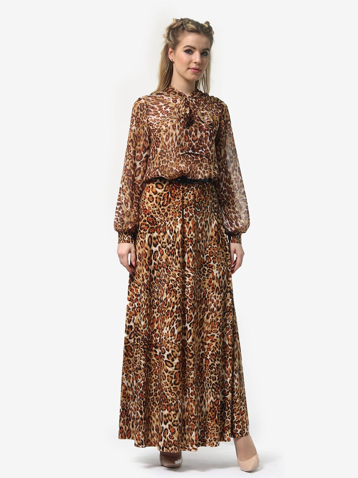 Платье в леопардовый принт | 4913327 | фото 5