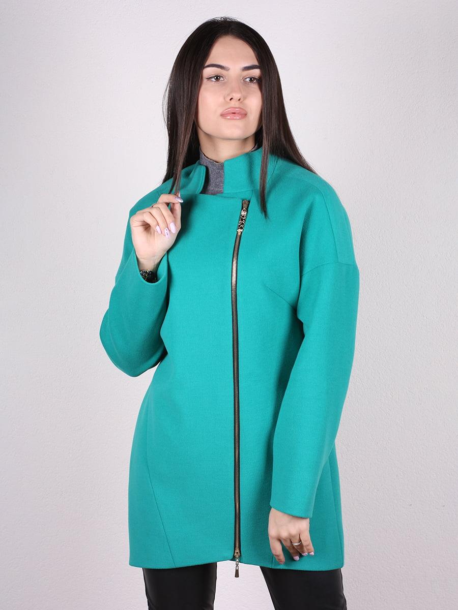 Пальто бирюзовое | 4913825