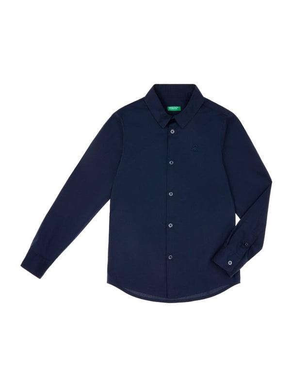 Сорочка темно-синя | 4910516
