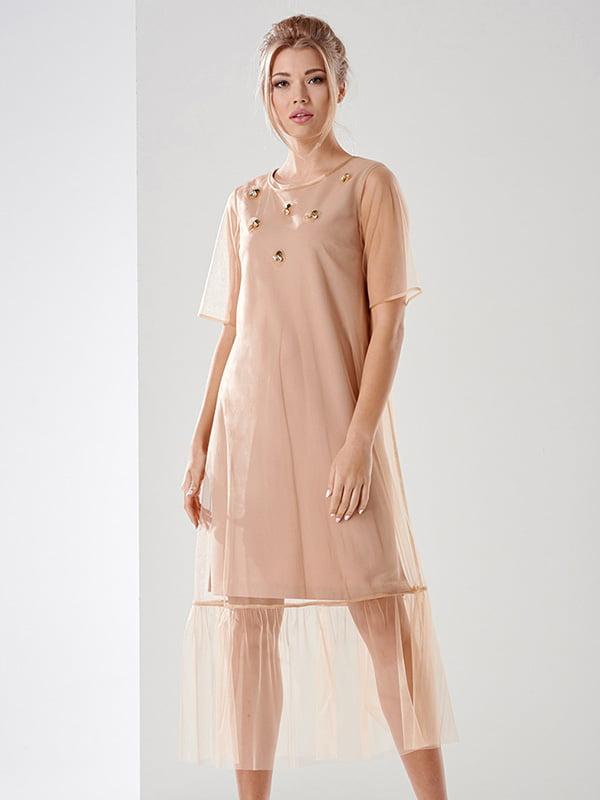 Платье бежевое | 4068368