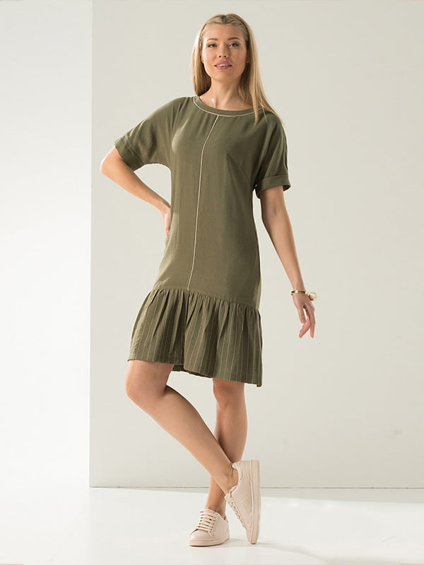 Платье цвета хаки | 4224130