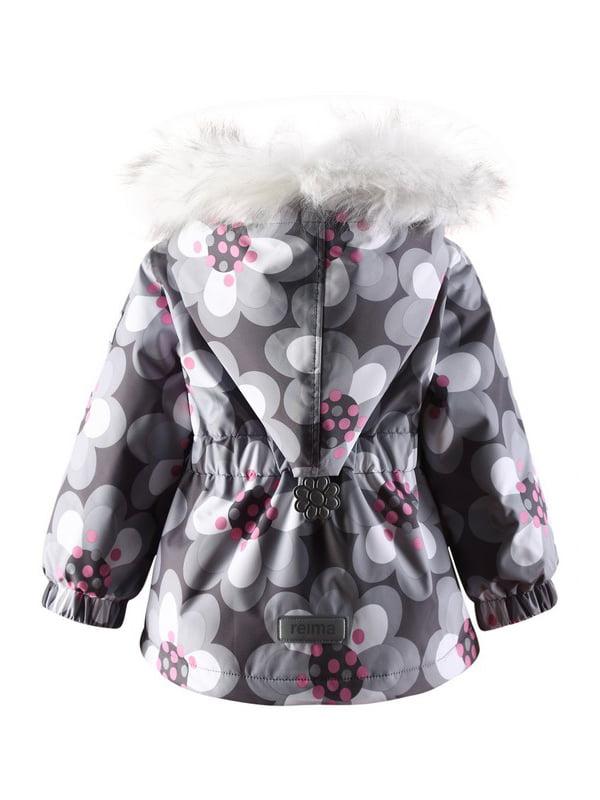 Куртка сіра в квітковий принт | 1422361 | фото 2
