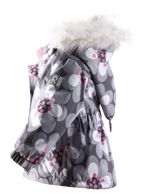Куртка сіра в квітковий принт | 1422361 | фото 3
