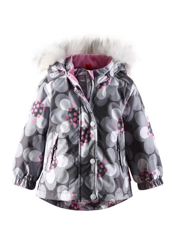 Куртка сіра в квітковий принт | 1422361 | фото 5