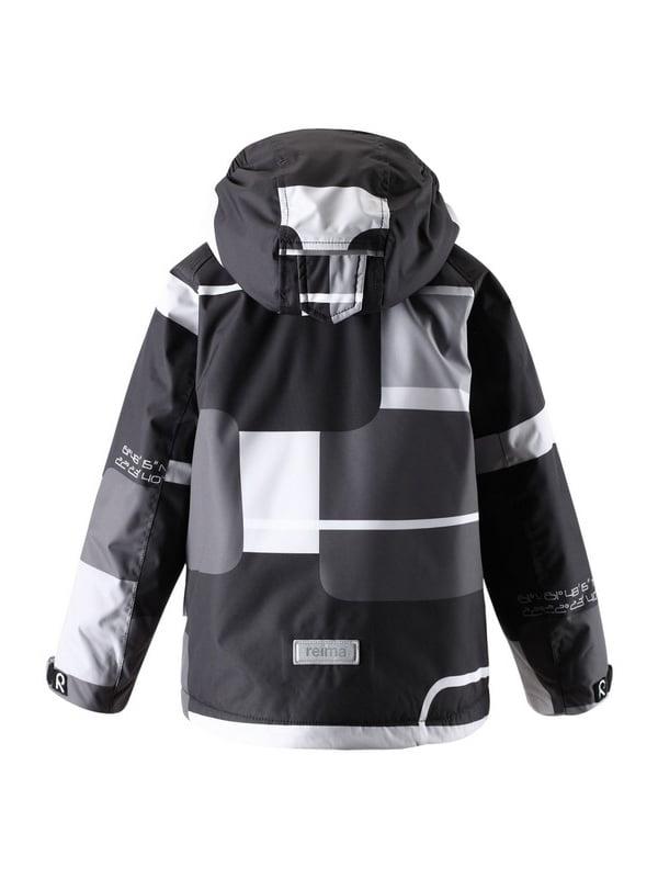 Куртка серо-черная | 1422435 | фото 4