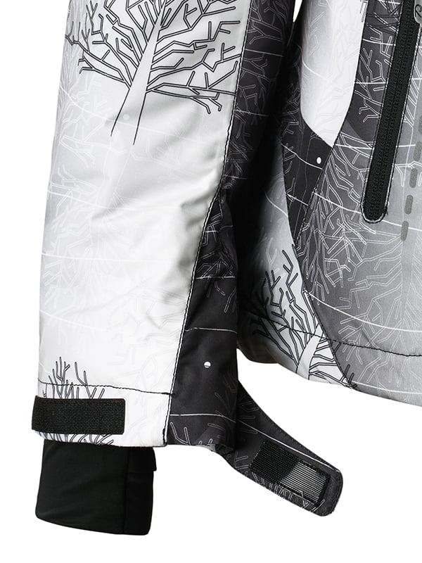 Куртка чорно-біла в принт | 1852338 | фото 4