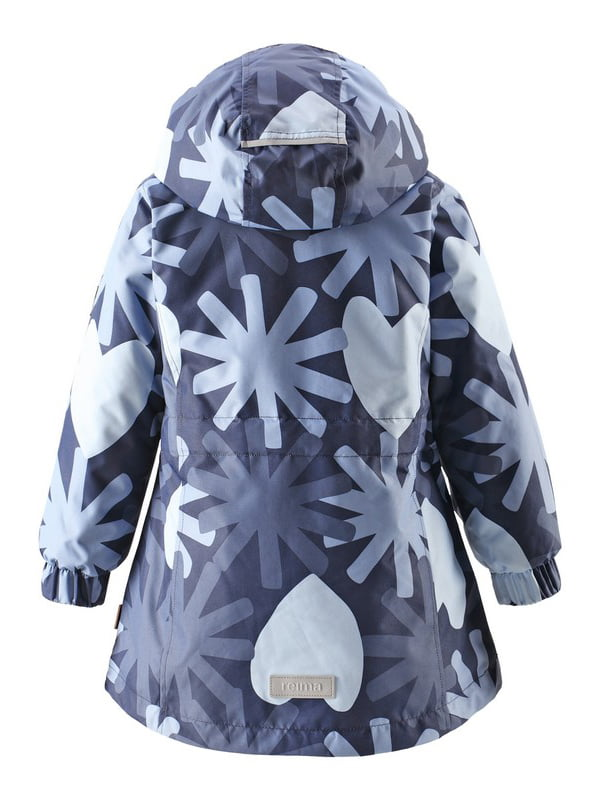 Куртка темно-синя в принт | 4856322