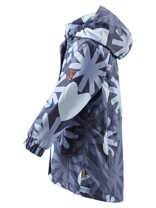 Куртка темно-синя в принт | 4856322 | фото 2