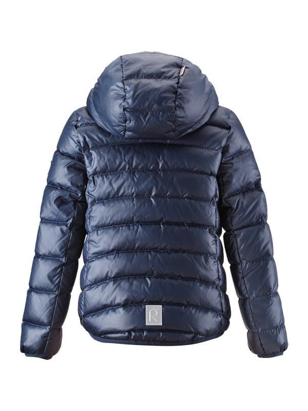 Куртка-пуховик темно-синя | 4856327