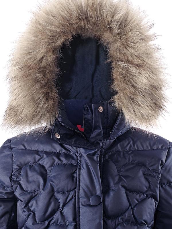 Куртка-пуховик темно-синя | 4856329 | фото 3