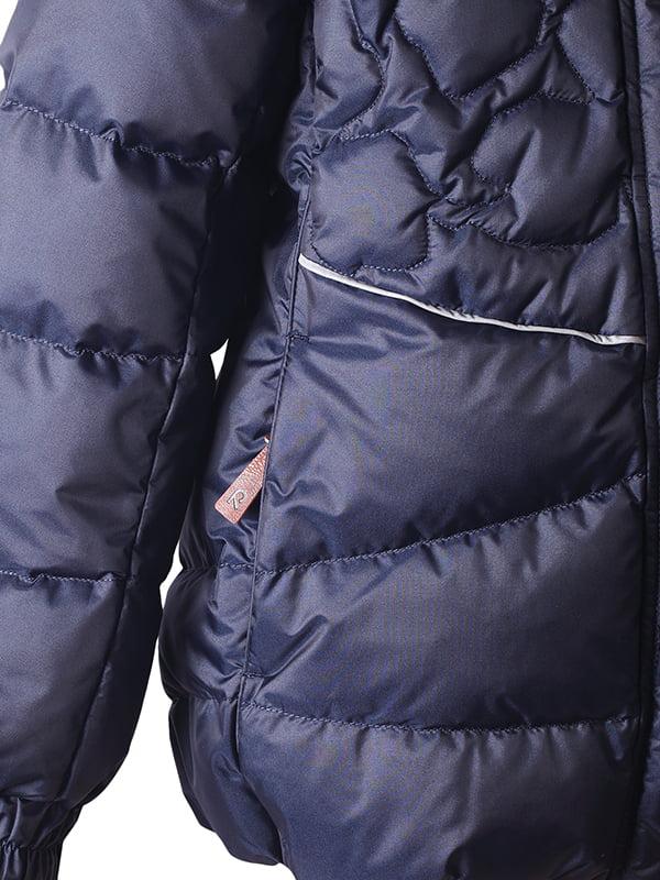 Куртка-пуховик темно-синя | 4856329 | фото 4
