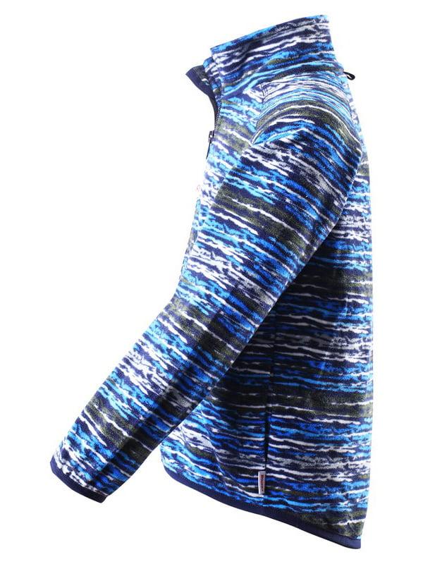 Кофта синя в принт   4856409   фото 2