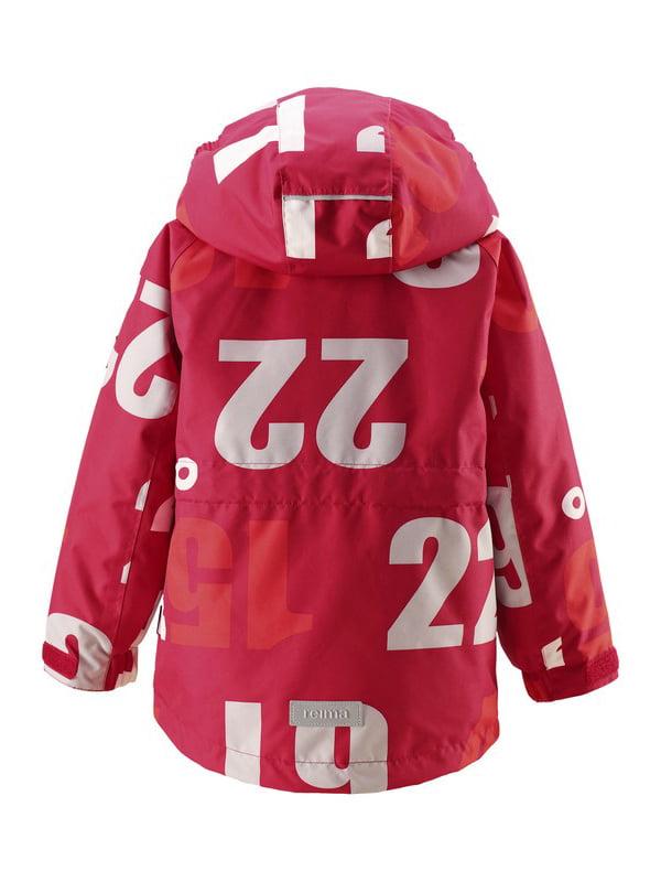 Куртка червона в принт   4856419
