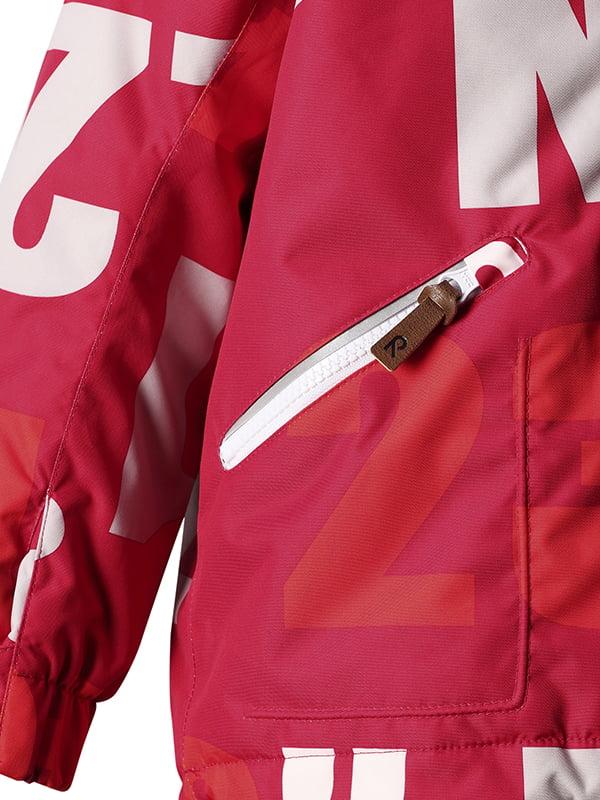 Куртка червона в принт   4856419   фото 3
