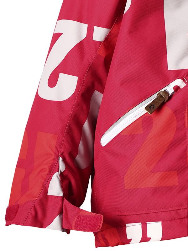 Куртка червона в принт   4856419   фото 4