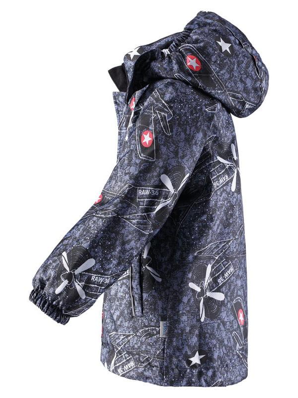 Куртка темно-синя в принт   4856451   фото 2
