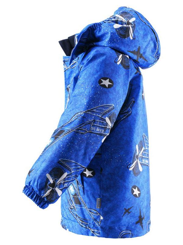 Куртка синя в принт | 4856472