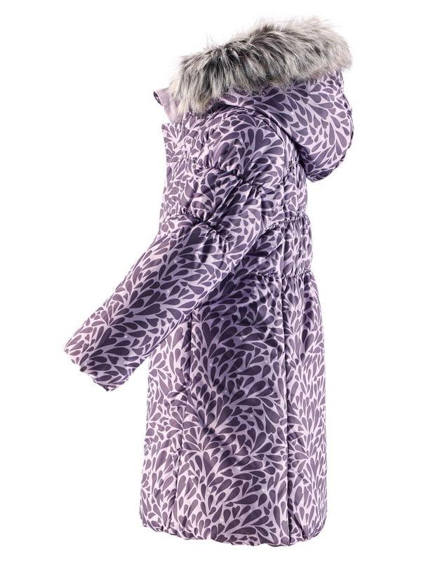 Куртка фіолетова в принт | 4856474 | фото 2