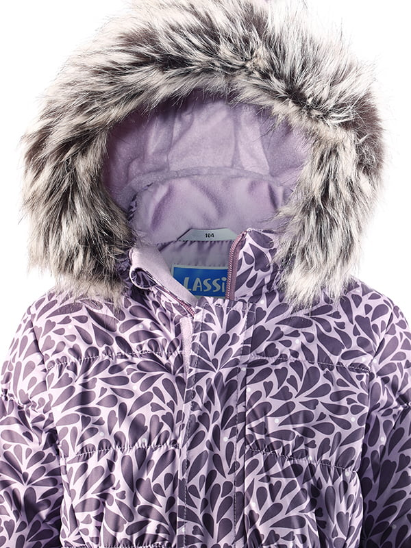 Куртка фіолетова в принт | 4856474 | фото 3