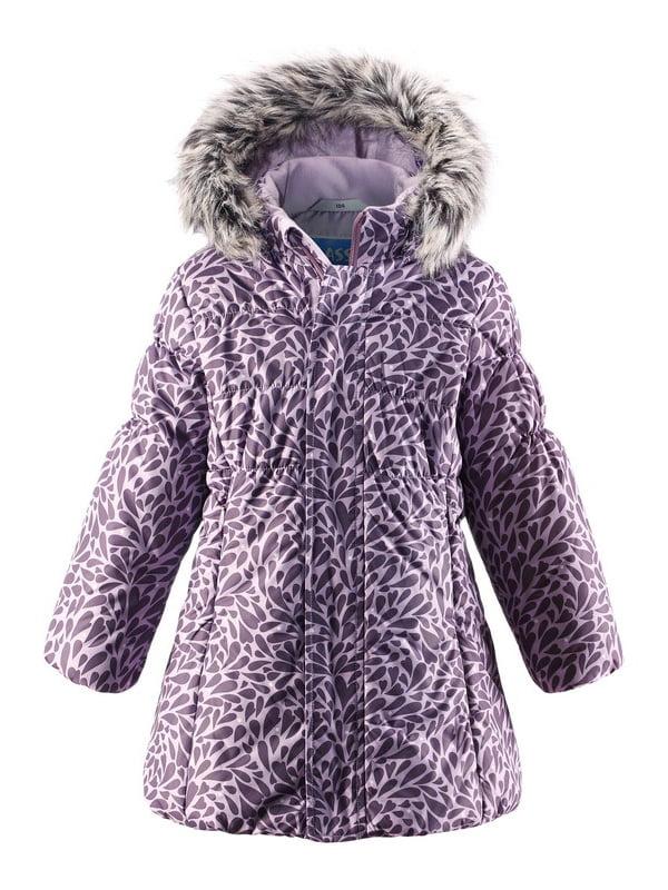Куртка фіолетова в принт | 4856474 | фото 4