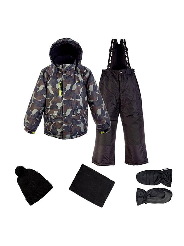 Комплект: куртка, напівкомбінезон, шапка, шарф і рукавиці   4856599