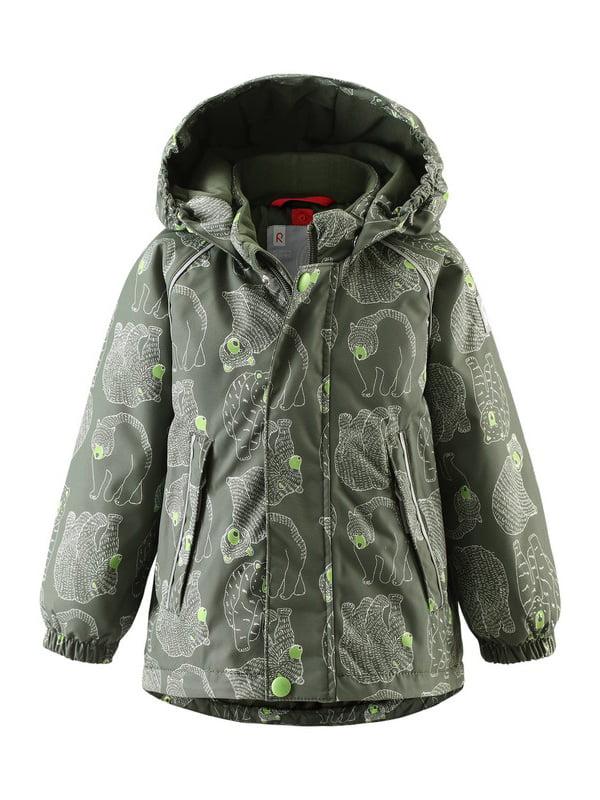 Куртка темно-зелена в принт | 4856623 | фото 4