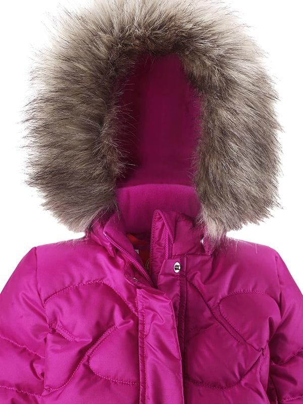 Куртка-пуховик рожева | 4856626 | фото 3