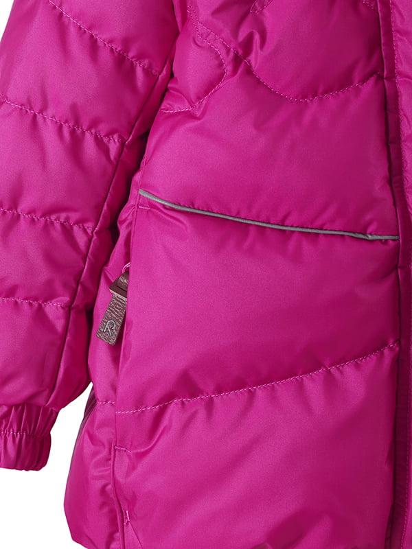 Куртка-пуховик рожева | 4856626 | фото 4