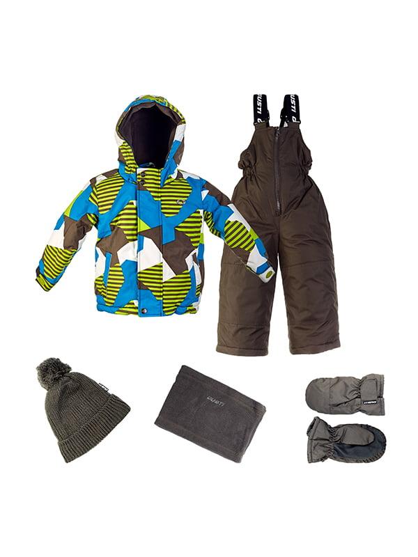 Комплект: куртка, напівкомбінезон, шапка, шарф і рукавиці | 4856630