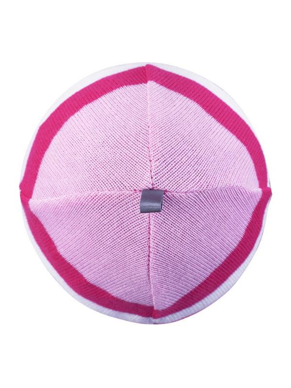 Шапка рожева в смужку | 4856640 | фото 3