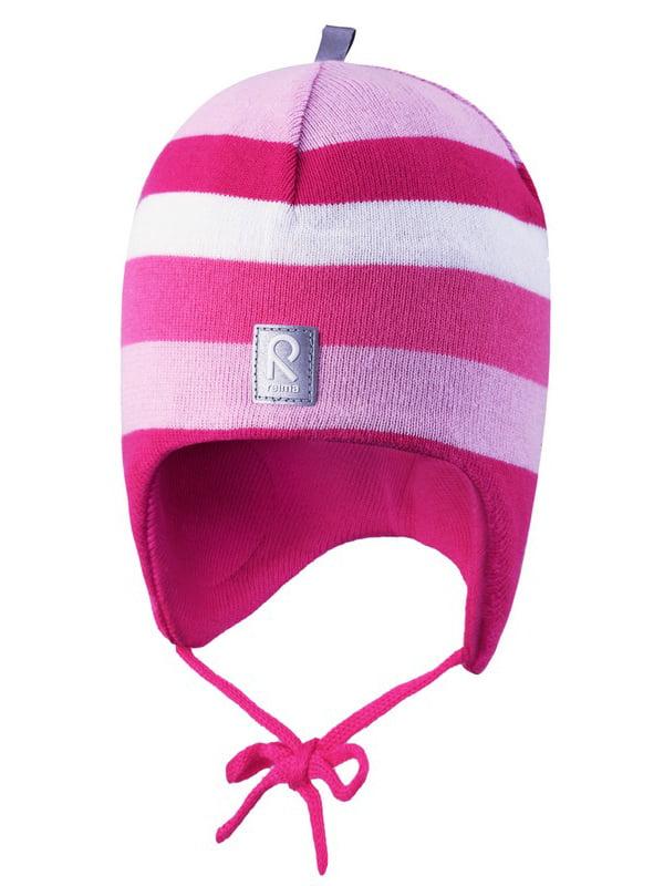 Шапка рожева в смужку | 4856640 | фото 4