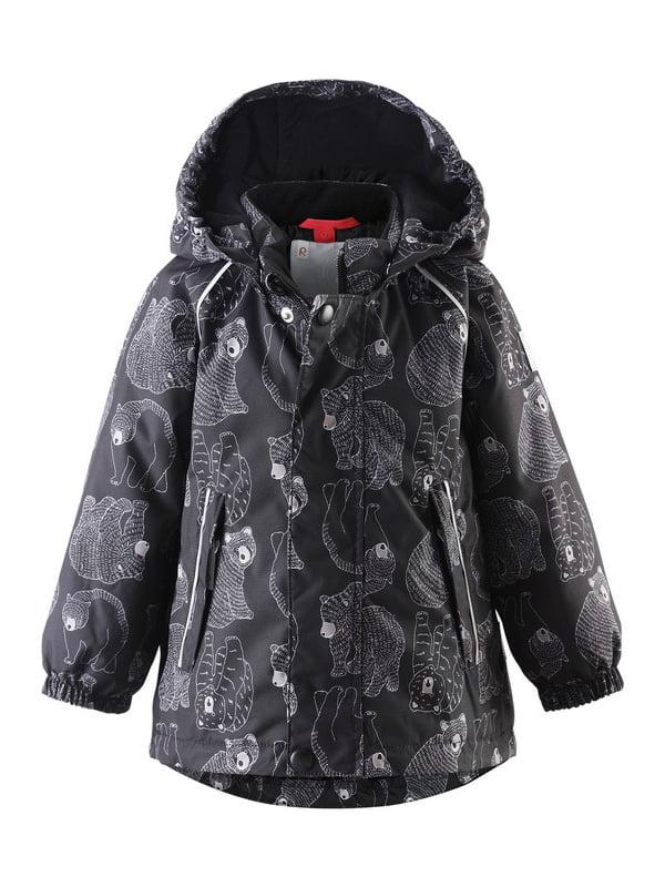 Куртка чорна в принт | 4856676 | фото 4