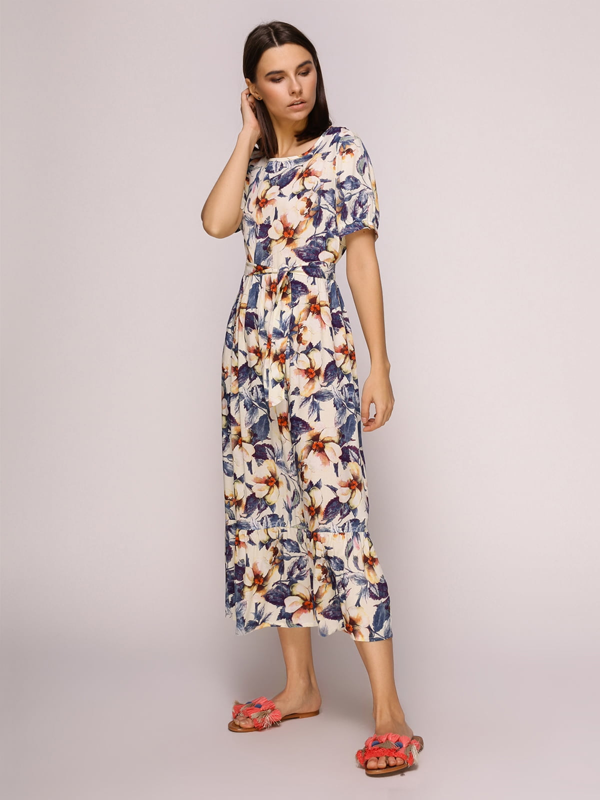 Платье в цветочный принт | 4915527