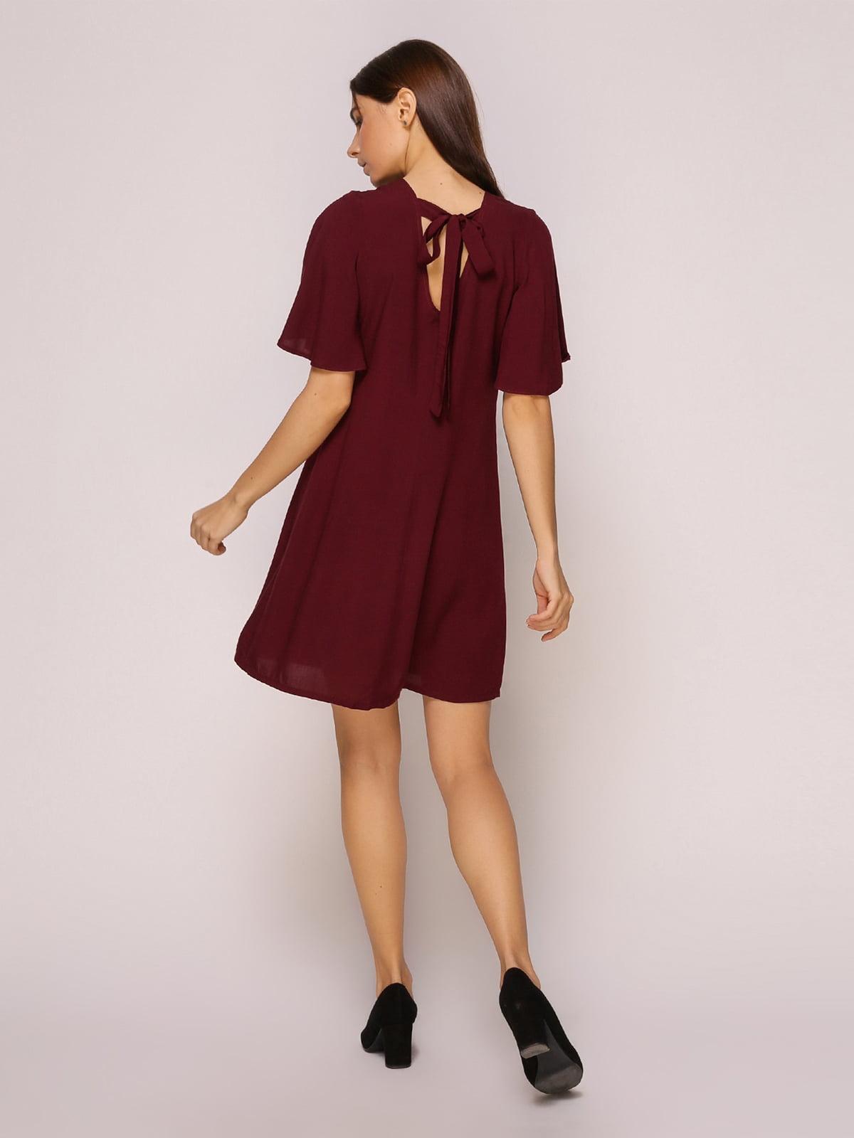 Платье бордовое | 4915529 | фото 4