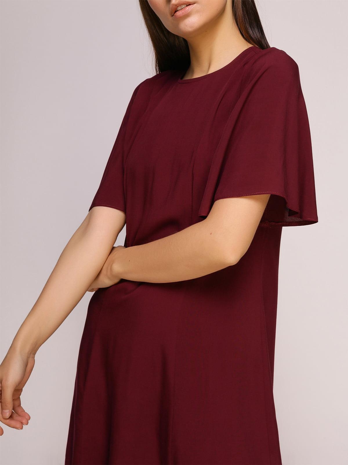 Платье бордовое | 4915529 | фото 5
