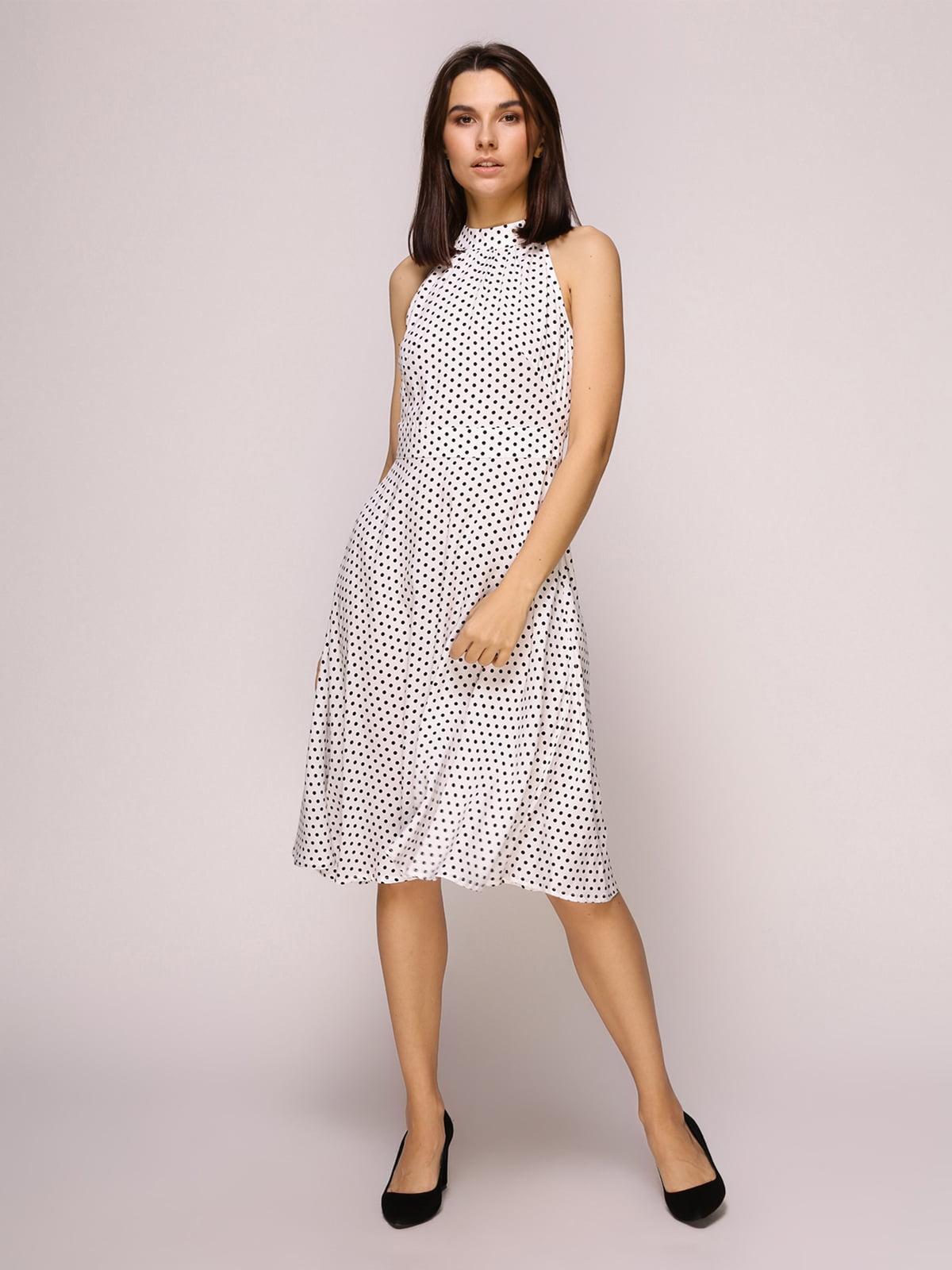 Сукня біла в горох | 4915533