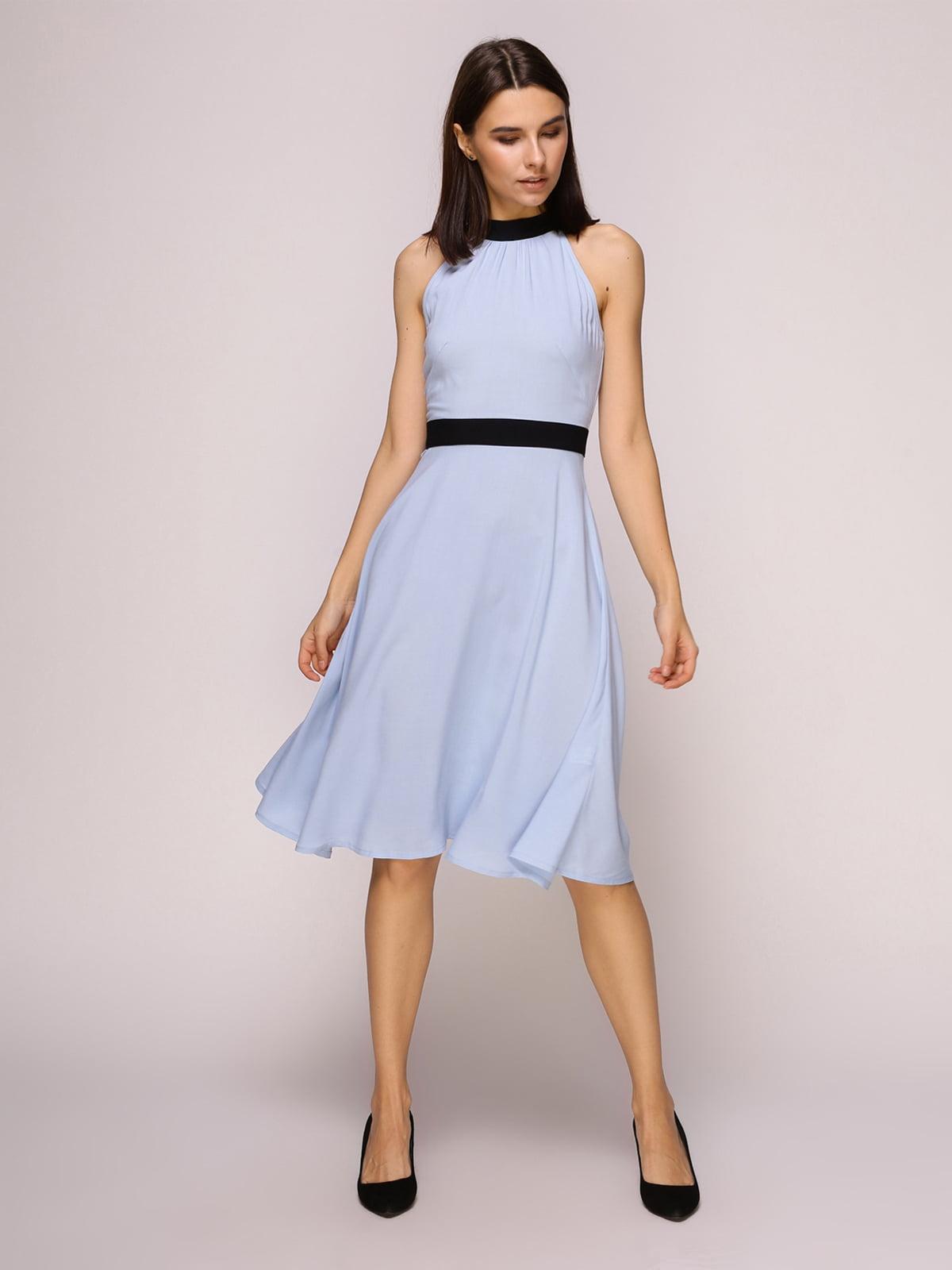 Платье голубое   4915536
