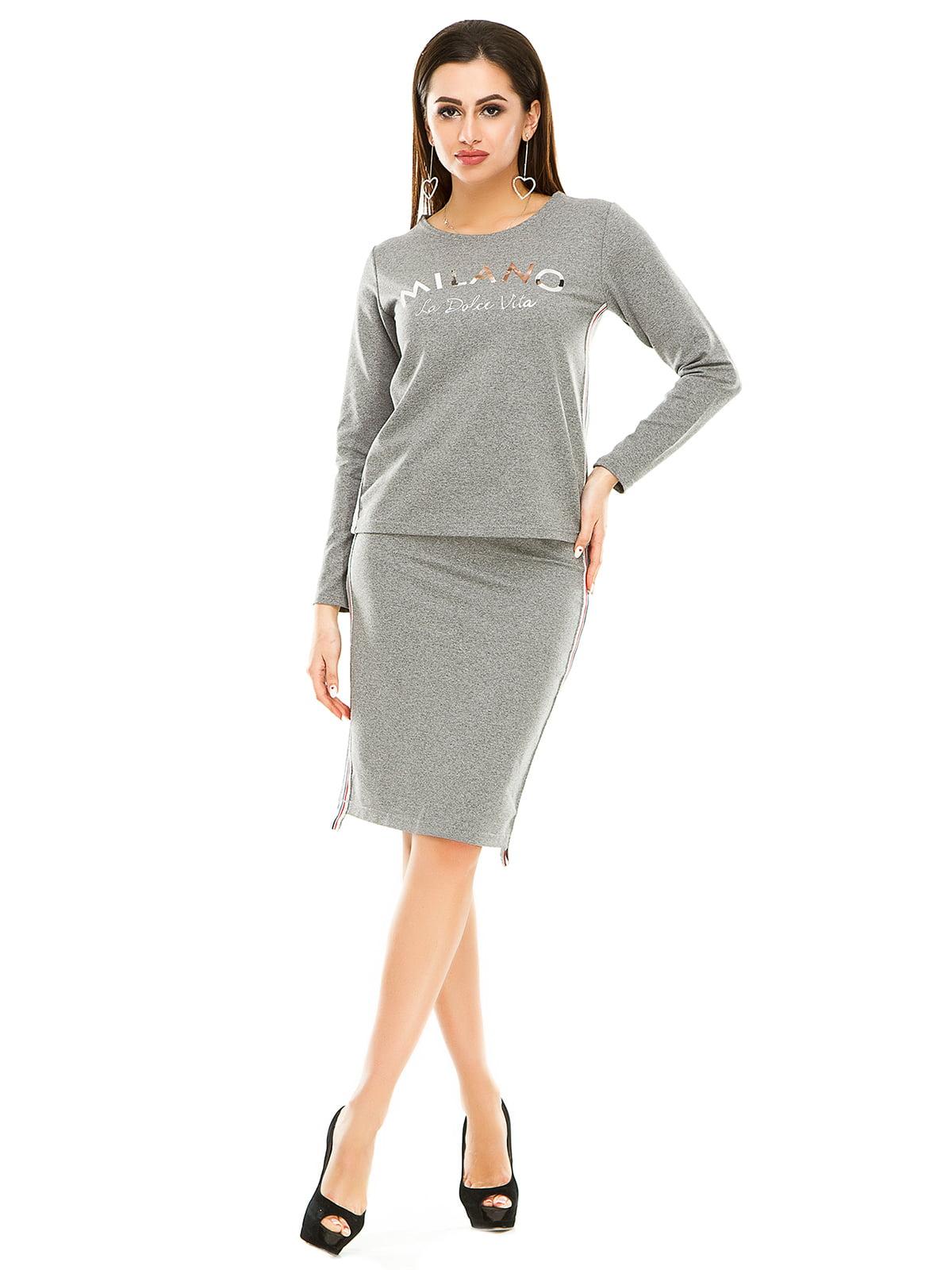 Комплект: лонгслив и юбка | 4890749