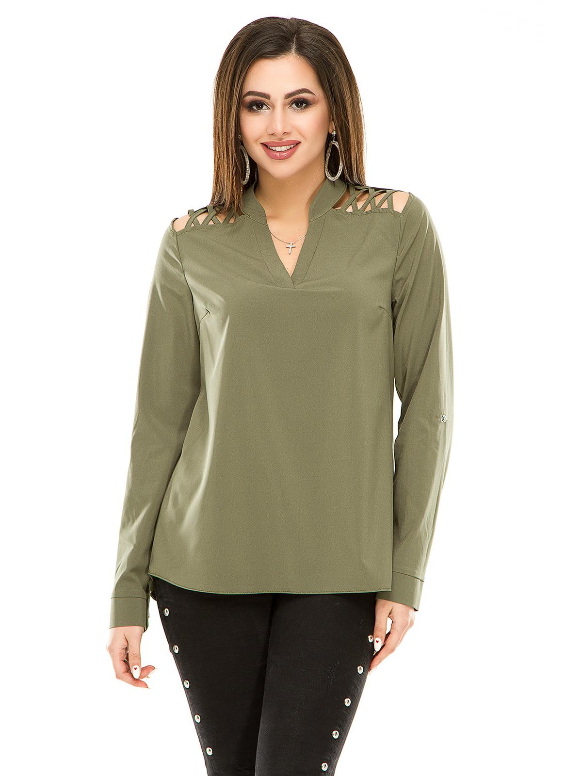 Блуза оливкового кольору | 4917438