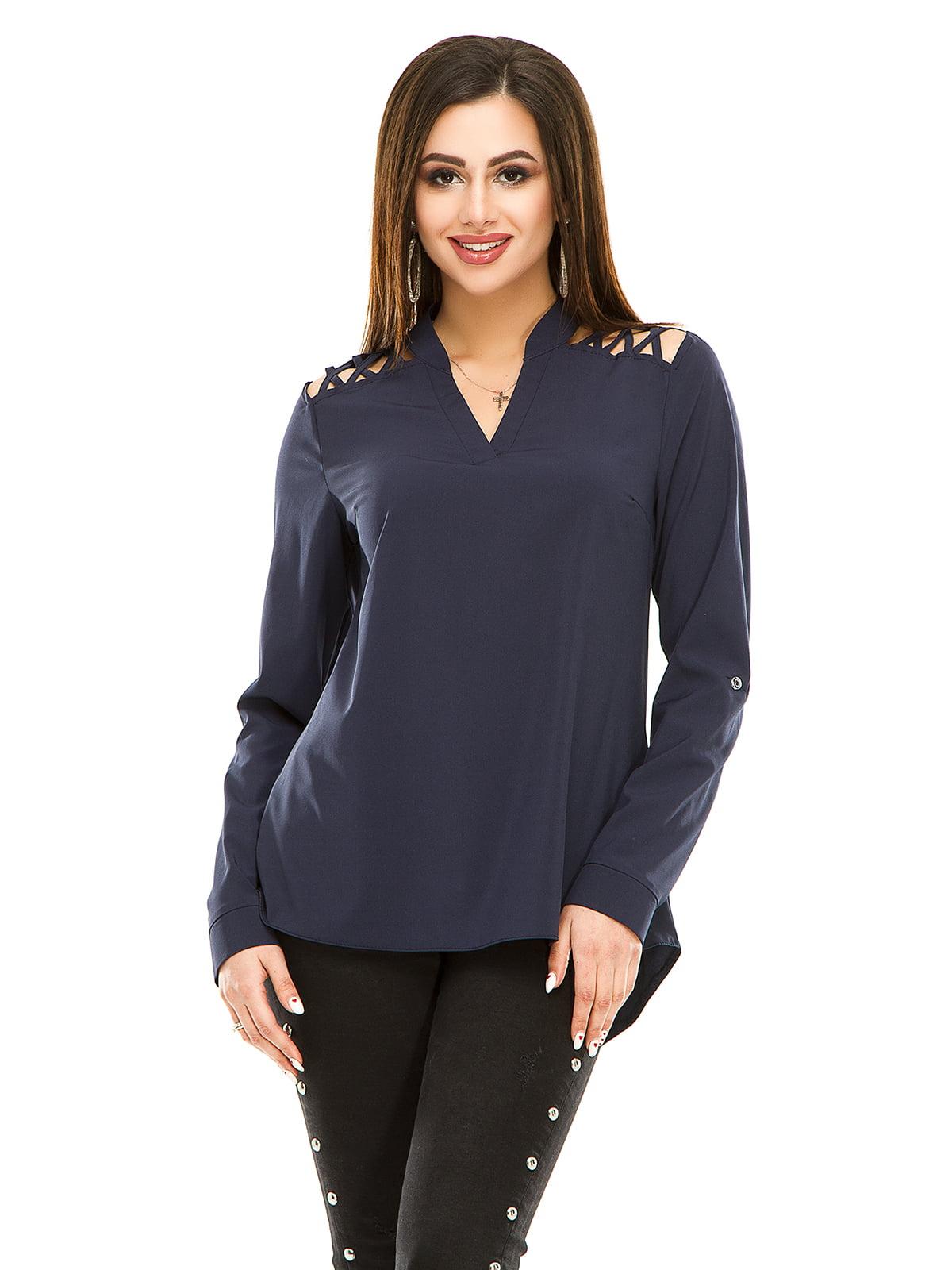 Блуза темно-синя   4917441