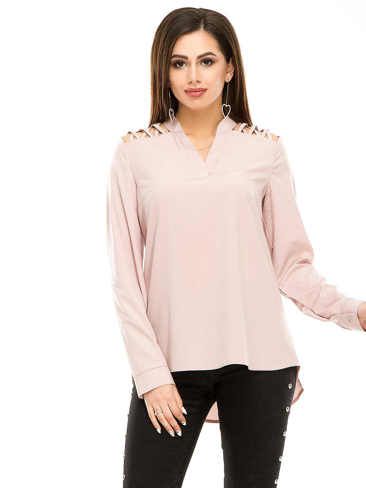 Блуза кольору пудри | 4917444