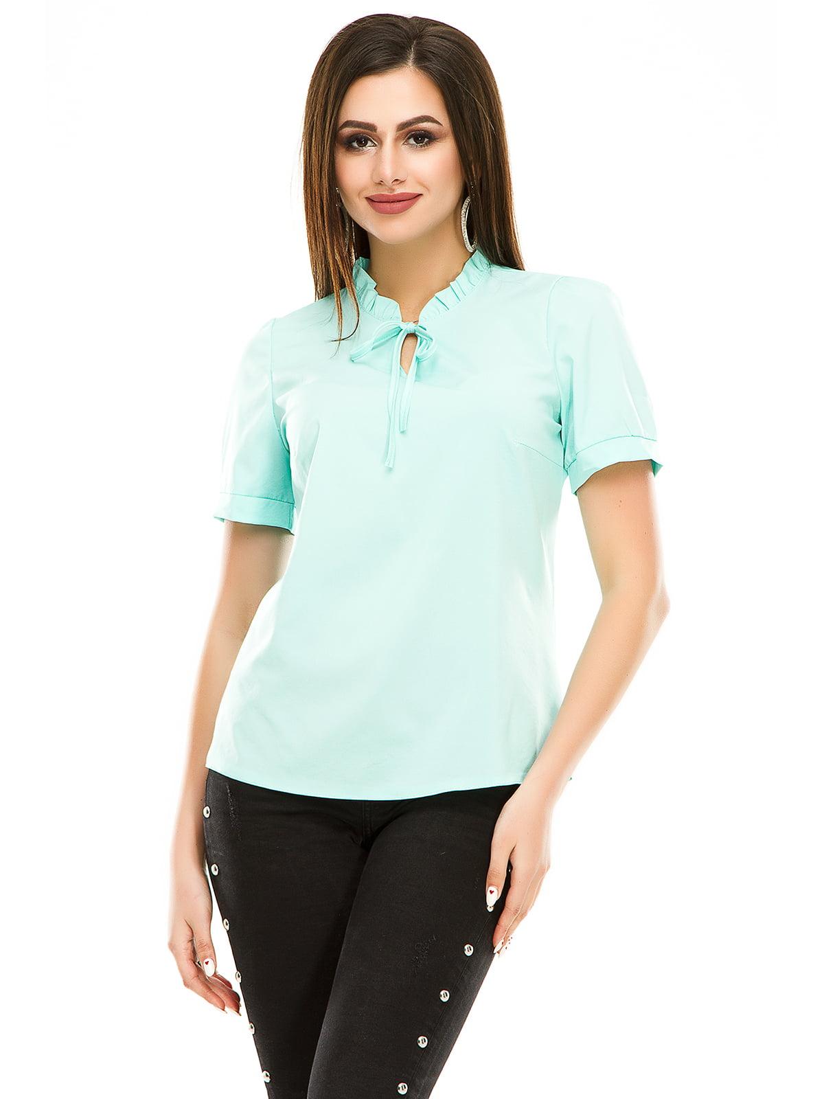 Блуза м'ятного кольору | 4917454