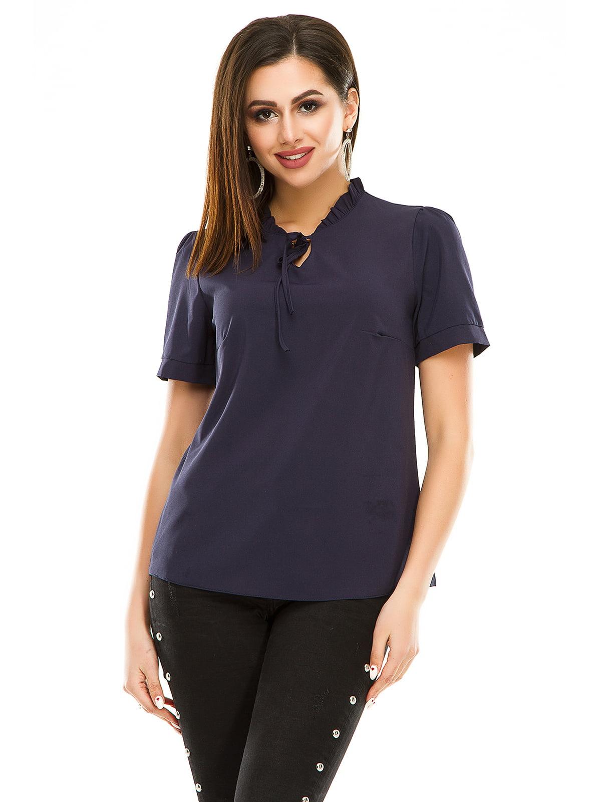 Блуза темно-синя | 4917457